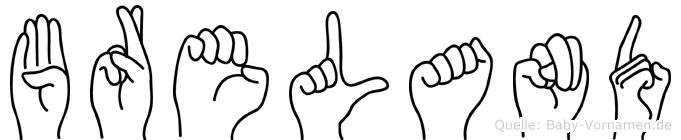 Breland im Fingeralphabet der Deutschen Gebärdensprache