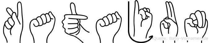 Katajun im Fingeralphabet der Deutschen Gebärdensprache