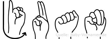 Juan in Fingersprache für Gehörlose