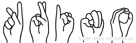Krino in Fingersprache für Gehörlose