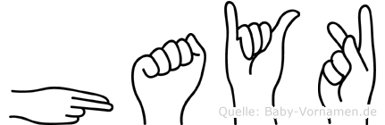 Hayk im Fingeralphabet der Deutschen Gebärdensprache