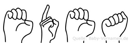 Edea in Fingersprache für Gehörlose