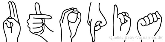 Utopia in Fingersprache für Gehörlose