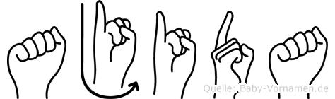 Ajida in Fingersprache für Gehörlose