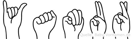 Yamur im Fingeralphabet der Deutschen Gebärdensprache