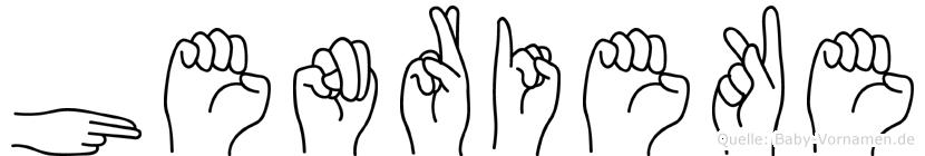 Henrieke in Fingersprache für Gehörlose