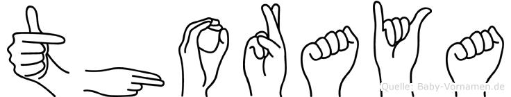Thoraya in Fingersprache für Gehörlose