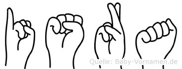 Isra in Fingersprache für Gehörlose