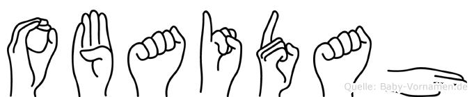 Obaidah im Fingeralphabet der Deutschen Gebärdensprache