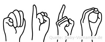 Mido in Fingersprache für Gehörlose