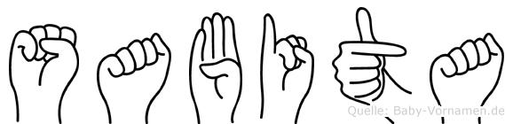 Sabita in Fingersprache für Gehörlose