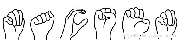 Macsen im Fingeralphabet der Deutschen Gebärdensprache