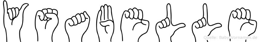 Ysabelle im Fingeralphabet der Deutschen Gebärdensprache
