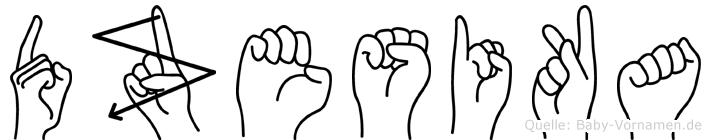Dzesika in Fingersprache für Gehörlose
