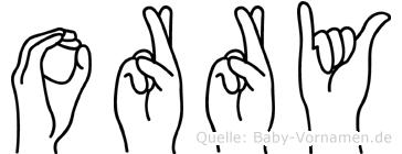 Orry in Fingersprache für Gehörlose