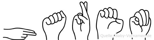 Harem im Fingeralphabet der Deutschen Gebärdensprache