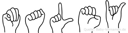 Maley in Fingersprache für Gehörlose