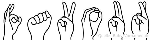 Favour in Fingersprache für Gehörlose