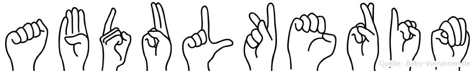 Abdulkerim in Fingersprache für Gehörlose