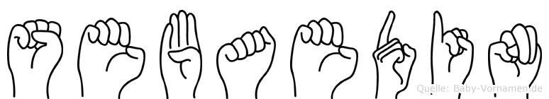 Sebaedin im Fingeralphabet der Deutschen Gebärdensprache