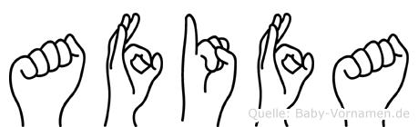 Afifa in Fingersprache für Gehörlose