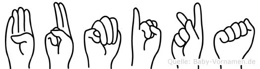 Bumika in Fingersprache für Gehörlose