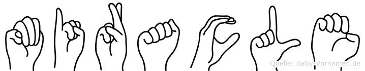 Miracle im Fingeralphabet der Deutschen Gebärdensprache