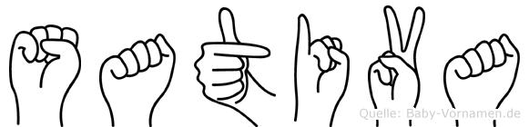 Sativa in Fingersprache für Gehörlose