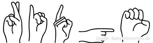 Ridge in Fingersprache für Gehörlose