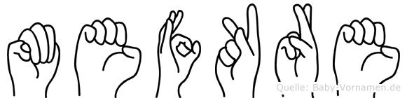 Mefküre in Fingersprache für Gehörlose