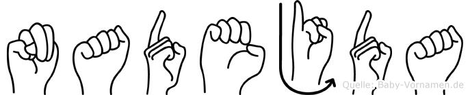 Nadejda in Fingersprache für Gehörlose