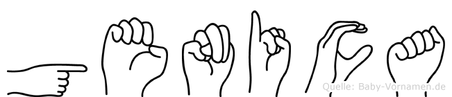 Genica im Fingeralphabet der Deutschen Gebärdensprache