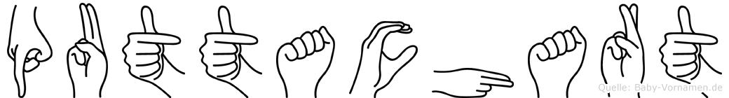 Puttachart im Fingeralphabet der Deutschen Gebärdensprache