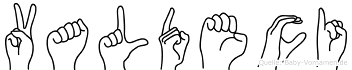 Valdeci in Fingersprache für Gehörlose