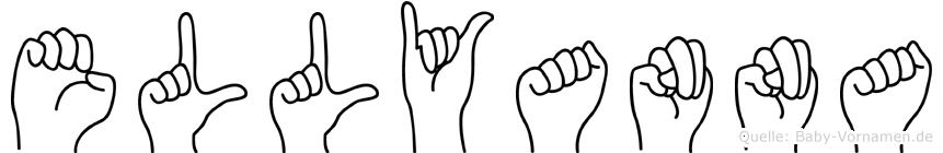 Ellyanna im Fingeralphabet der Deutschen Gebärdensprache
