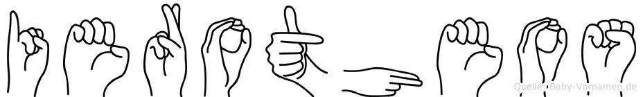 Ierotheos im Fingeralphabet der Deutschen Gebärdensprache