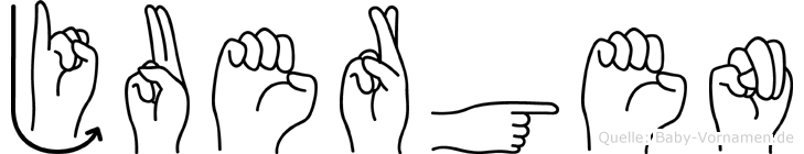 Juergen im Fingeralphabet der Deutschen Gebärdensprache