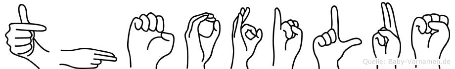 Theofilus im Fingeralphabet der Deutschen Gebärdensprache
