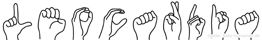 Leocardia im Fingeralphabet der Deutschen Gebärdensprache