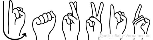Jarvid im Fingeralphabet der Deutschen Gebärdensprache