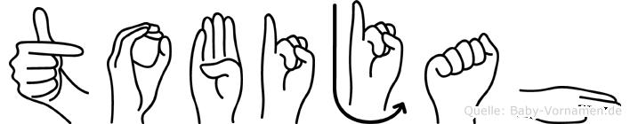Tobijah in Fingersprache für Gehörlose