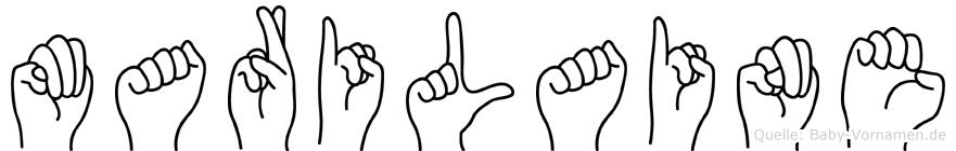 Marilaine im Fingeralphabet der Deutschen Gebärdensprache