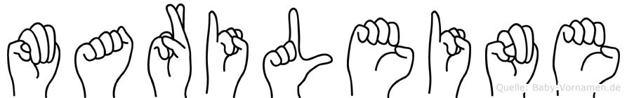 Marileine in Fingersprache für Gehörlose