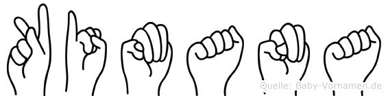 Kimana im Fingeralphabet der Deutschen Gebärdensprache