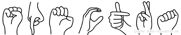 Spectra in Fingersprache für Gehörlose