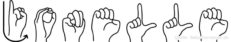 Jonelle in Fingersprache für Gehörlose