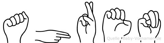 Ahren im Fingeralphabet der Deutschen Gebärdensprache