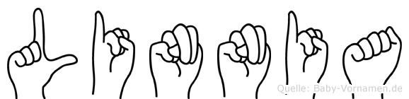Linnia im Fingeralphabet der Deutschen Gebärdensprache