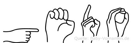 Gedo im Fingeralphabet der Deutschen Gebärdensprache