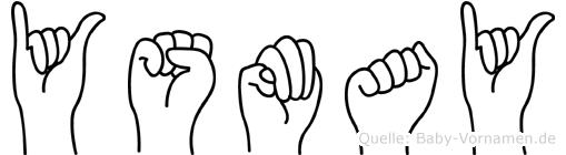 Ysmay im Fingeralphabet der Deutschen Gebärdensprache